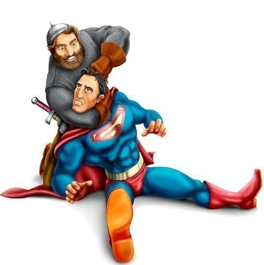 Богатырь и супермен